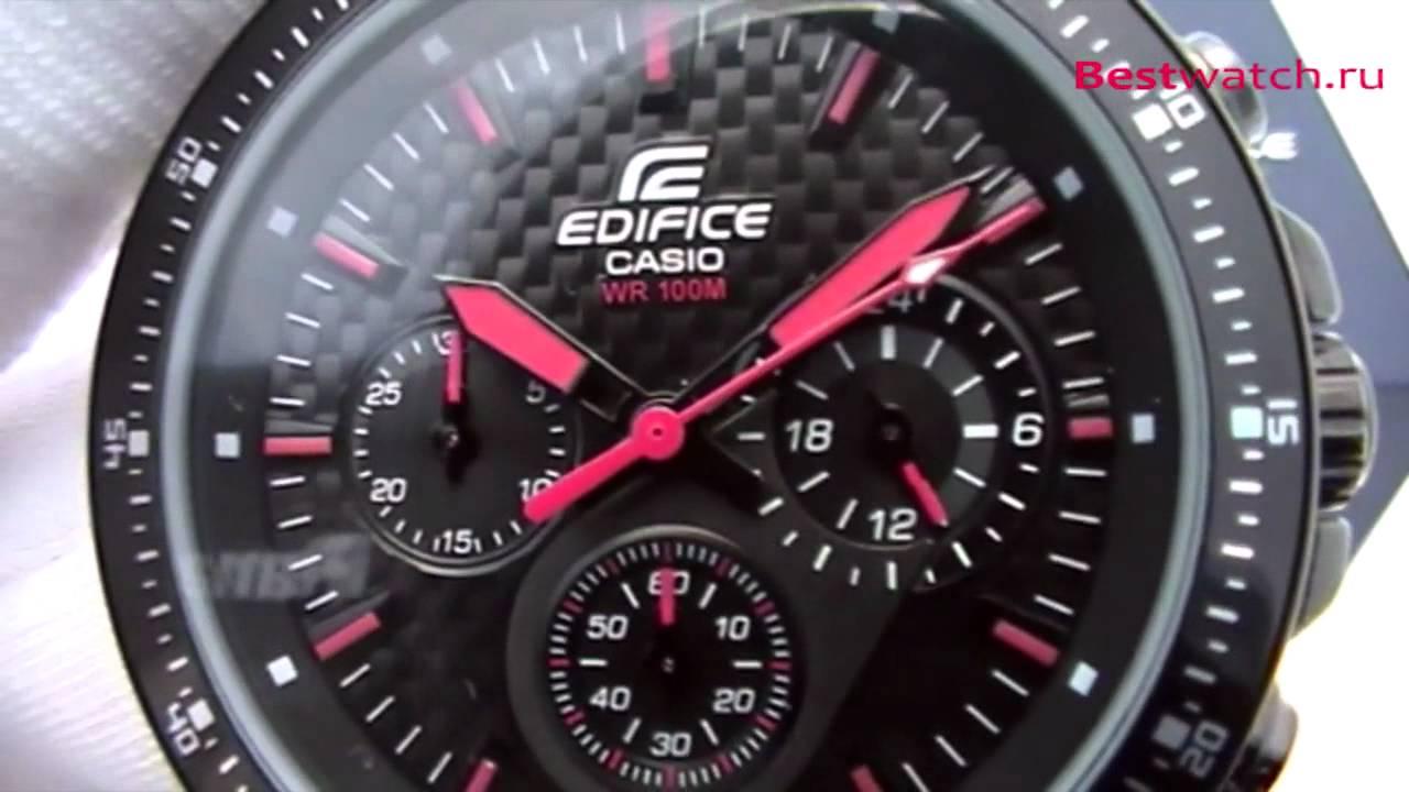 d0edb5bc38cf Обзор мужских часов Casio Edifice EF-552PB-1A4 - YouTube