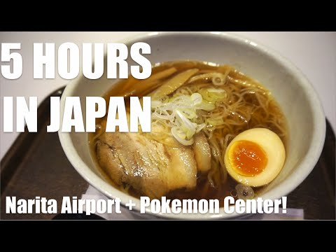 5 HOURS IN JAPAN  Pokemon Store & Narita Airport Layover
