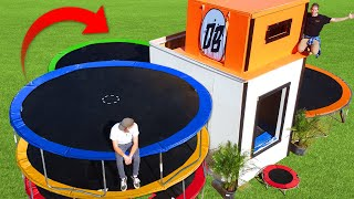 We Built a Trampoline Mansion! *BOUNCE HOUSE MANSION*