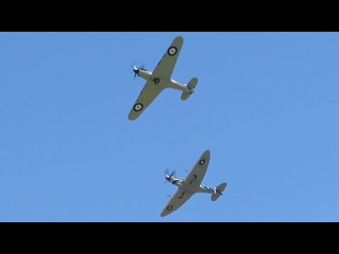 Flight Of The Hurricane Airshow Highlights Scone, Australia (Watch until end for Hurricane)