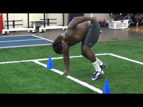 SD Mines' Jamel Rover At NFL Pro Day