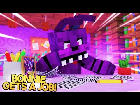 Minecraft FNAF: Bonnie Gets A Job (Minecraft FNAF Roleplay)