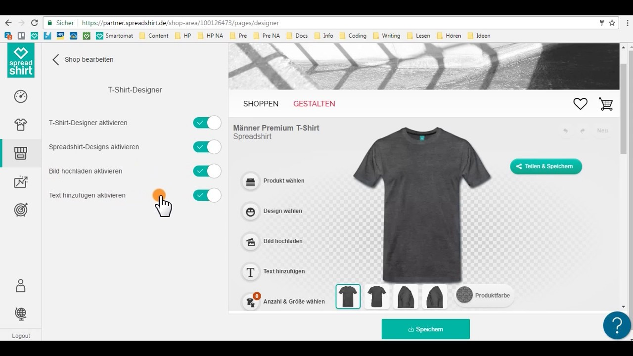 d8e7f6246 SpreadShop Setup: T-Shirt-Designer hinzufügen - YouTube