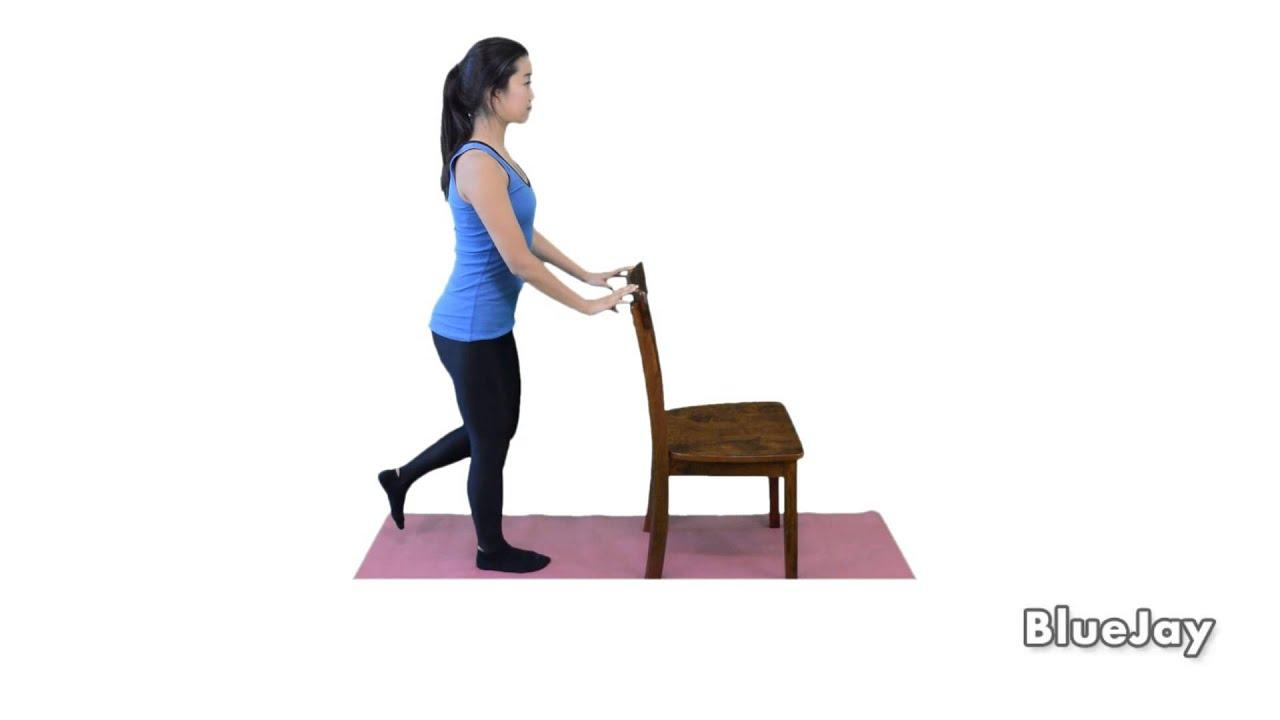 215A Single Leg Mini Squat with Chair - YouTube