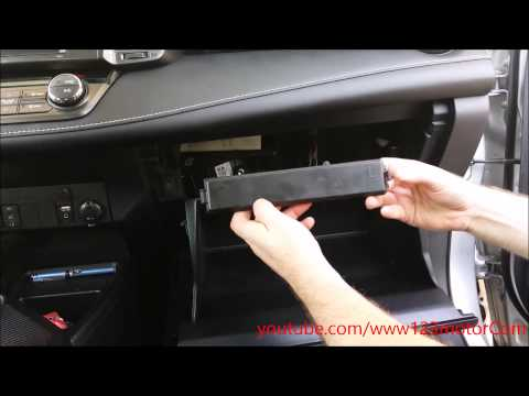 2013 Toyota Rav4 how to change or replace cabin air filter cleaner DIY easy maintenance 2014