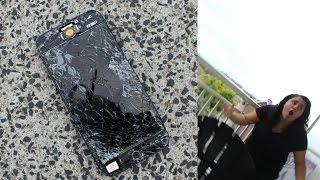 IPHONE 5 VAN HET BALKON GOOIEN PRANK! | ''BEN JE MOGOOL!'