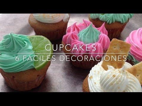 COMO DECORAR CUPCAKES? 6 ideas Super Facil - CPR