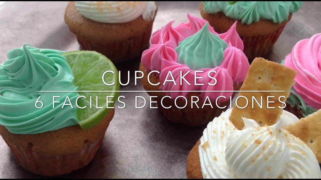 Como Decorar Cupcakes 6 Ideas Super Facil Cpr