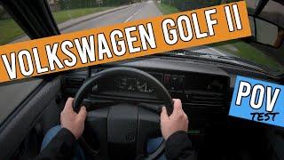 Volkswagen golf 2 automatic (1989)   POV test drive   1.6 petrol   #09