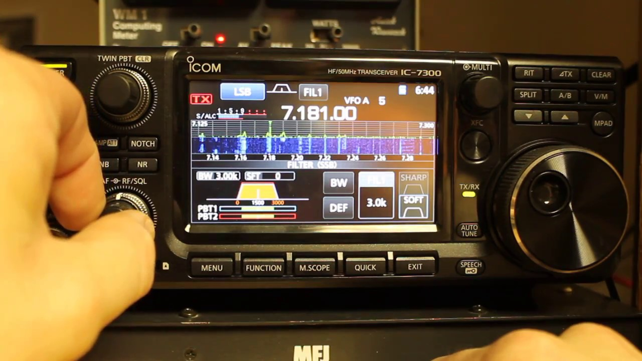 Icom IC-7300 Tips and Tricks - Selecting and Adjusting Filtering