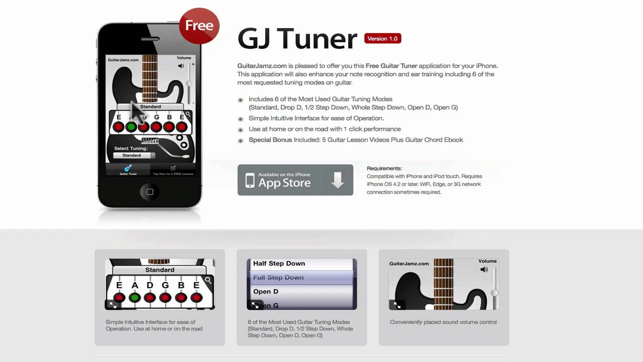 free iphone guitar tuner app iphone 3g iphone 4 review youtube. Black Bedroom Furniture Sets. Home Design Ideas