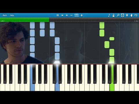 Vance Joy - Fire and the Flood (Piano) [Synthesia Animation]