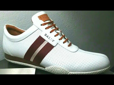Bally Frenz Perforated Leather, White