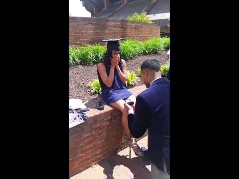 Surprise Marriage Proposal at Virginia State University Graduation May 2015