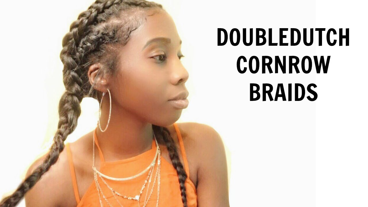 Double Dutch Cornrow Braids Tutorial Using Clip In Hair Extensions