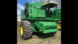 Video of Never Used 1983 John Deere 8820 Combine's 1st Trip to the Field
