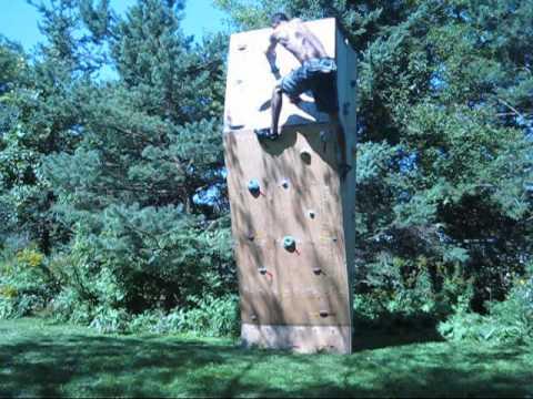 - Climbing Backyard Rock Wall - YouTube