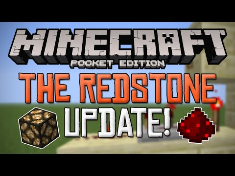 THE REDSTONE UPDATE!!! - MCPE Update Info - Minecraft PE (Pocket Edition)