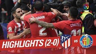 Resumen de Atltico de Madrid vs Getafe CF 2-0