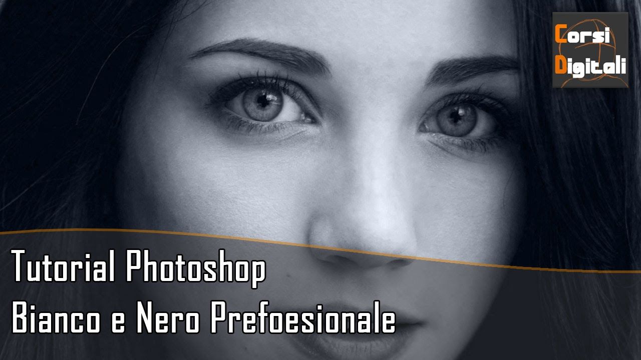 Bianco e nero professionale tutorial photoshop youtube for Soggiorno bianco e nero