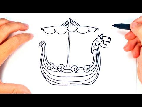 How to draw a Viking Ship   Viking Ship Easy Draw Tutorial