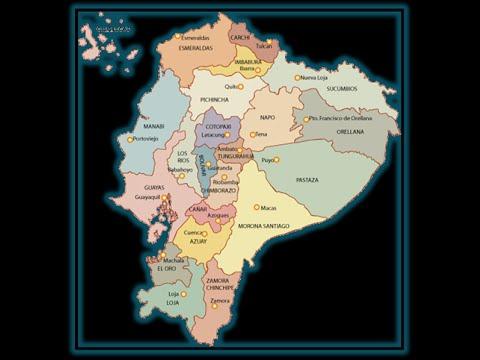 LAS PROVINCIAS DEL ECUADOR CON SUS CAPITALES