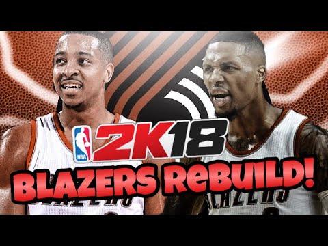 REBUILDING THE PORTLAND TRAILBLAZERS!! NBA 2K18 MY LEAGUE!!
