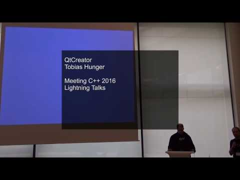 Lightning Talks Meeting C++ 2016 - Tobias Hunger - QtCreator