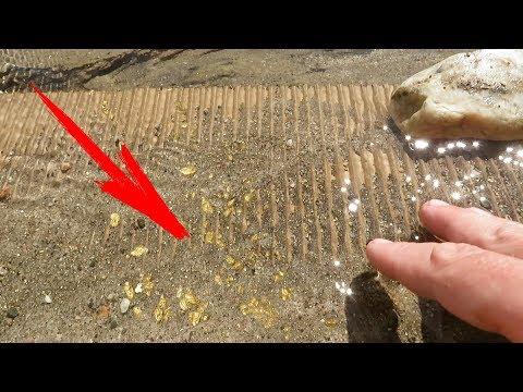 Как мыть золото вручную видео