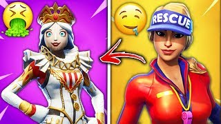 Top 10 UGLIEST Fortnite Skins EVERYBODY HATES!