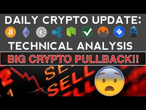 BIG CRYPTO PULLBACK, BE READY!! (11/12/17) Daily Crypto Update + Technical Analysis