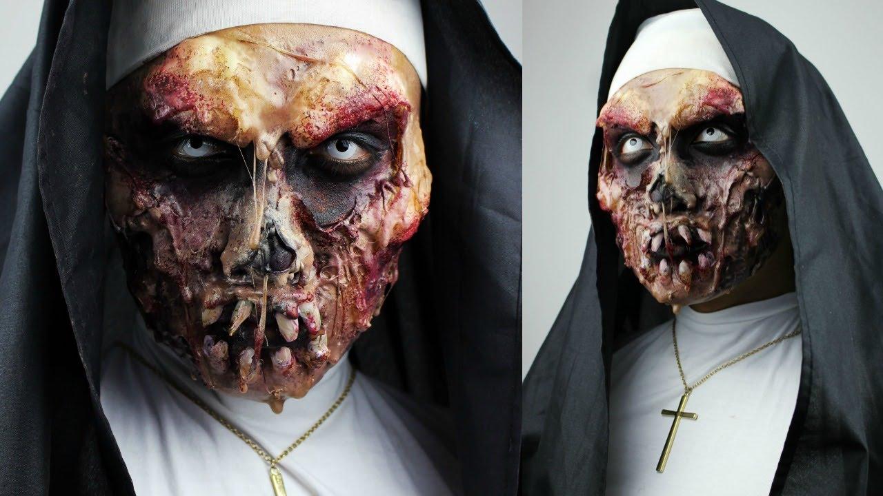 ZOMBIE NUN with SFX Gelatin Makeup Tutorial | 31 DAYS OF HALLOWEEN ...