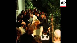 SYND 20 3 75 THE FUNERAL OF ARISTOTLE ONASSIS