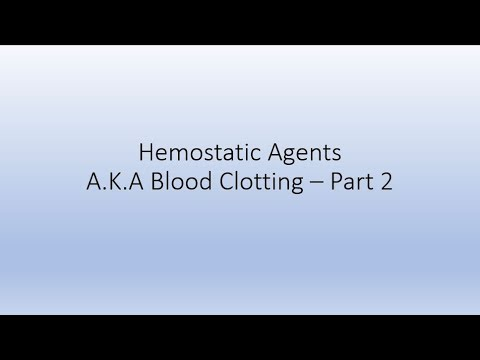 Blood Clotting 4  - Diagnostic testing (PT/INR/PTT)