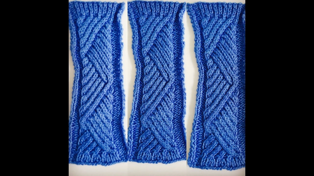 Knitting Pattern Sweeping Cable Knitting Stitch Youtube