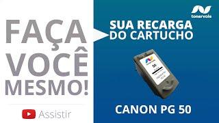 Recarga Expressa de Cartucho Canon PG 50 - MX-300 MX-310 MP-140 Black - Vídeo Aula Toner Vale