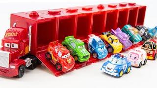 미니 맥트럭 속에 자동차와 과일 플레이도우 찍기 놀이를 해보아요