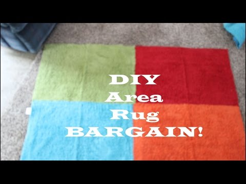 Bargain DIY Area Rug...SO CUTE! Less than $7!