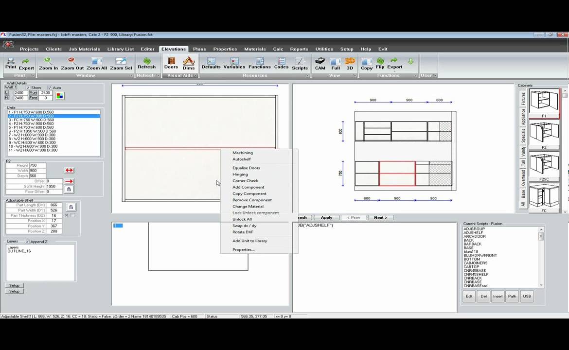 Fusion32 Cabinet Making Software - YouTube