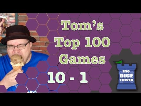 Top 100 Games from Tom Vasel (#10 - #1)