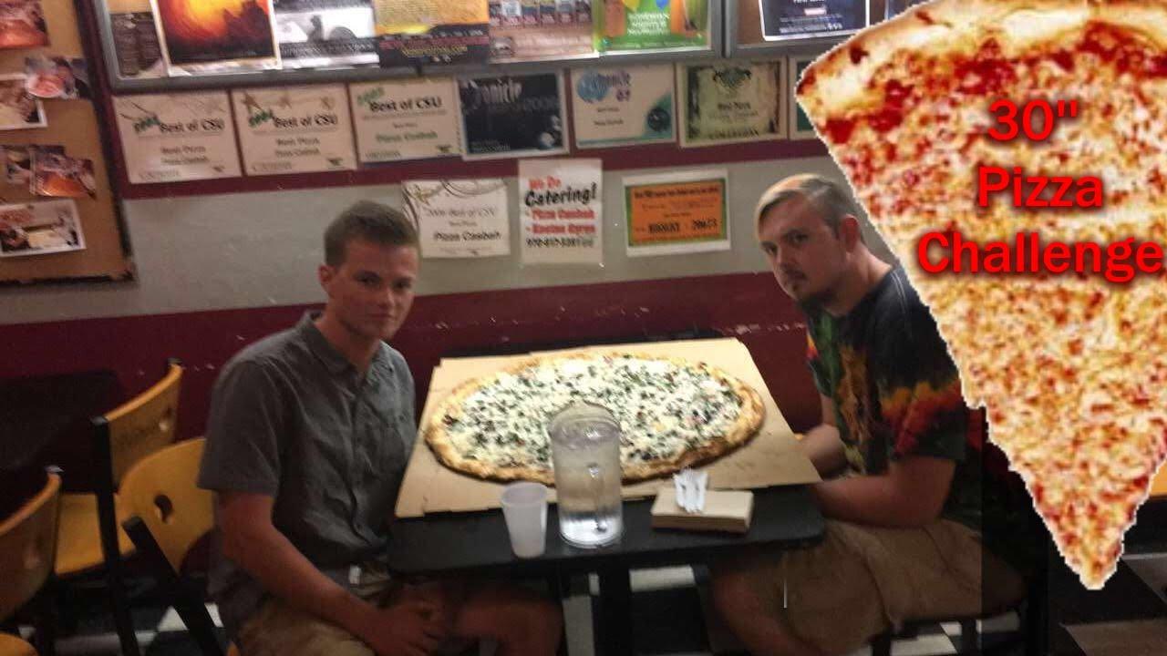 pizza casbah 30 inch pizza challenge vomit warning youtube