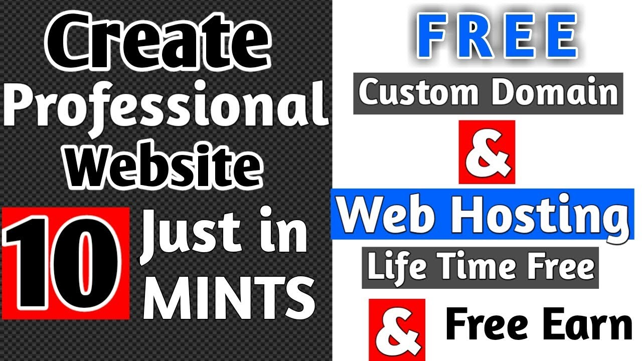 How to Create Free Website in hindi 2018   Free Domain Free Hosting for Life Time