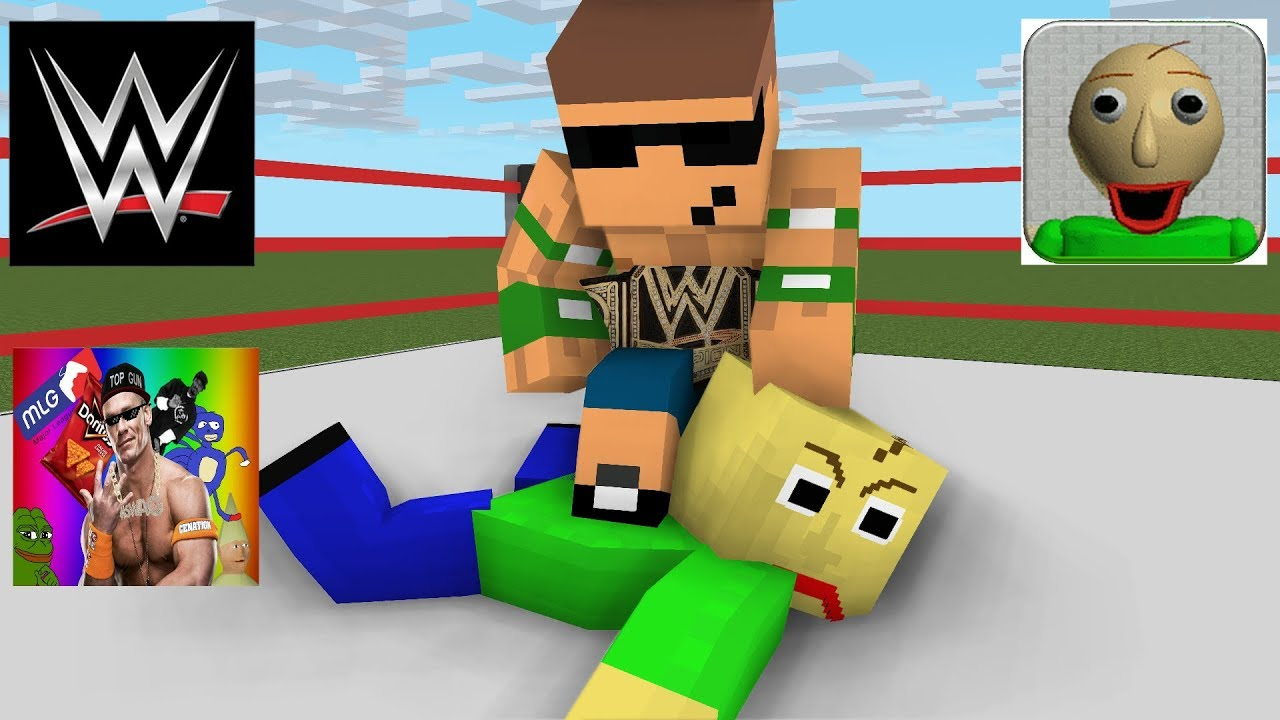 Monster School : Baldi's Basic Wrestling Challenge - Minecraft animation