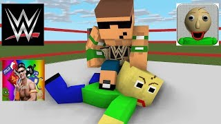 Monster School Baldi s Basic Wrestling Challenge Minecraft animation
