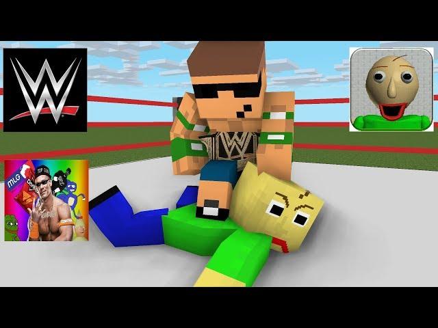 Monster School : Baldi's Basic Wrestling Challenge - Minecraft animation