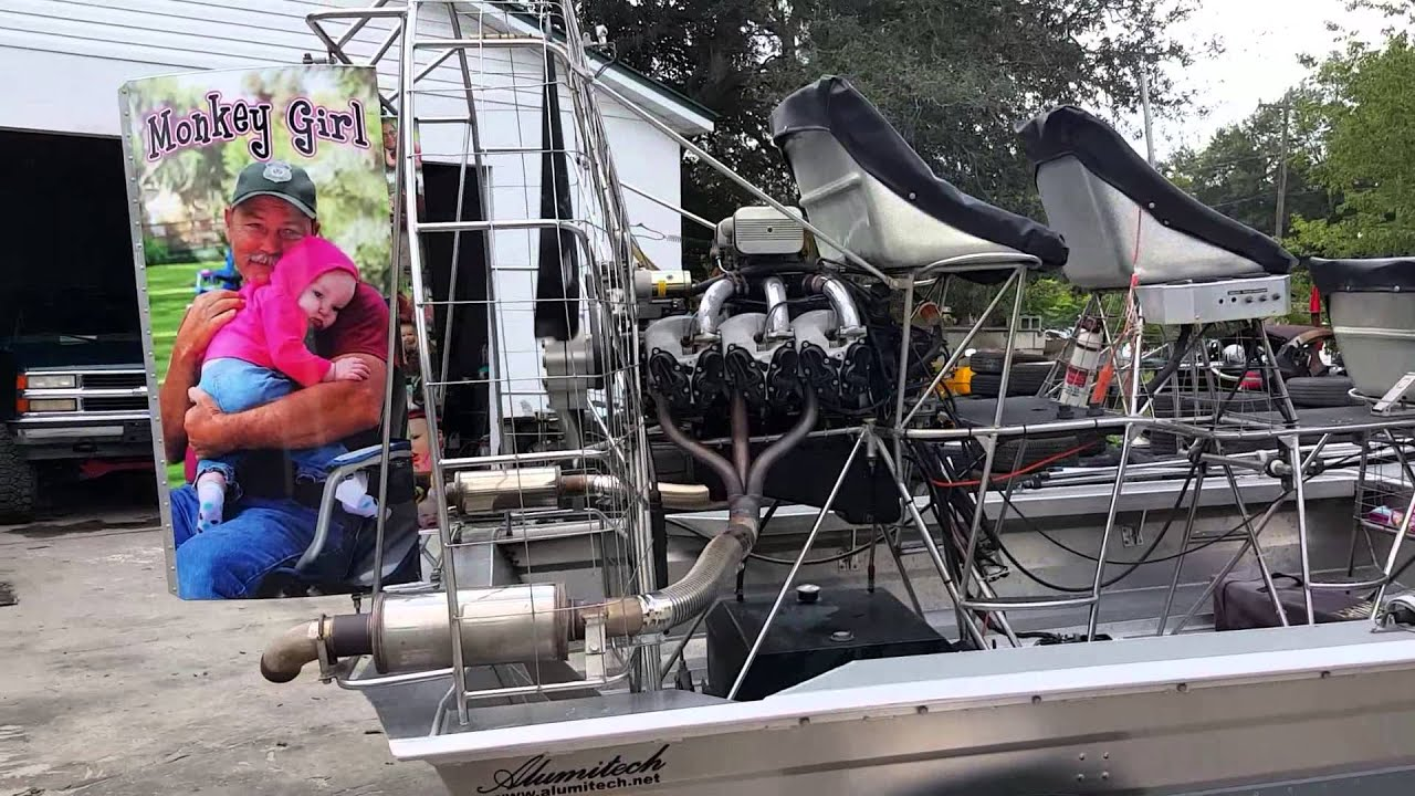 2012 alumitech airboat with aircraft engine youtube for How to build an airboat motor
