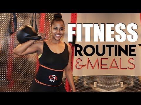 GYM WORKOUT AND MY DAILY MEALS | 2018 FITNESS @iamchinarenee