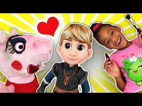 Peppa Pig Makeup Love Story | Naiah and Elli Toys Show