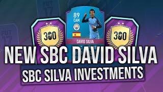 FIFA17 *NEW* SBC DAVID SILVA!?! INVESTING IN *NEW* POTENTIAL DAVID SILVA SBC CARD! 300 GAMES SBC!