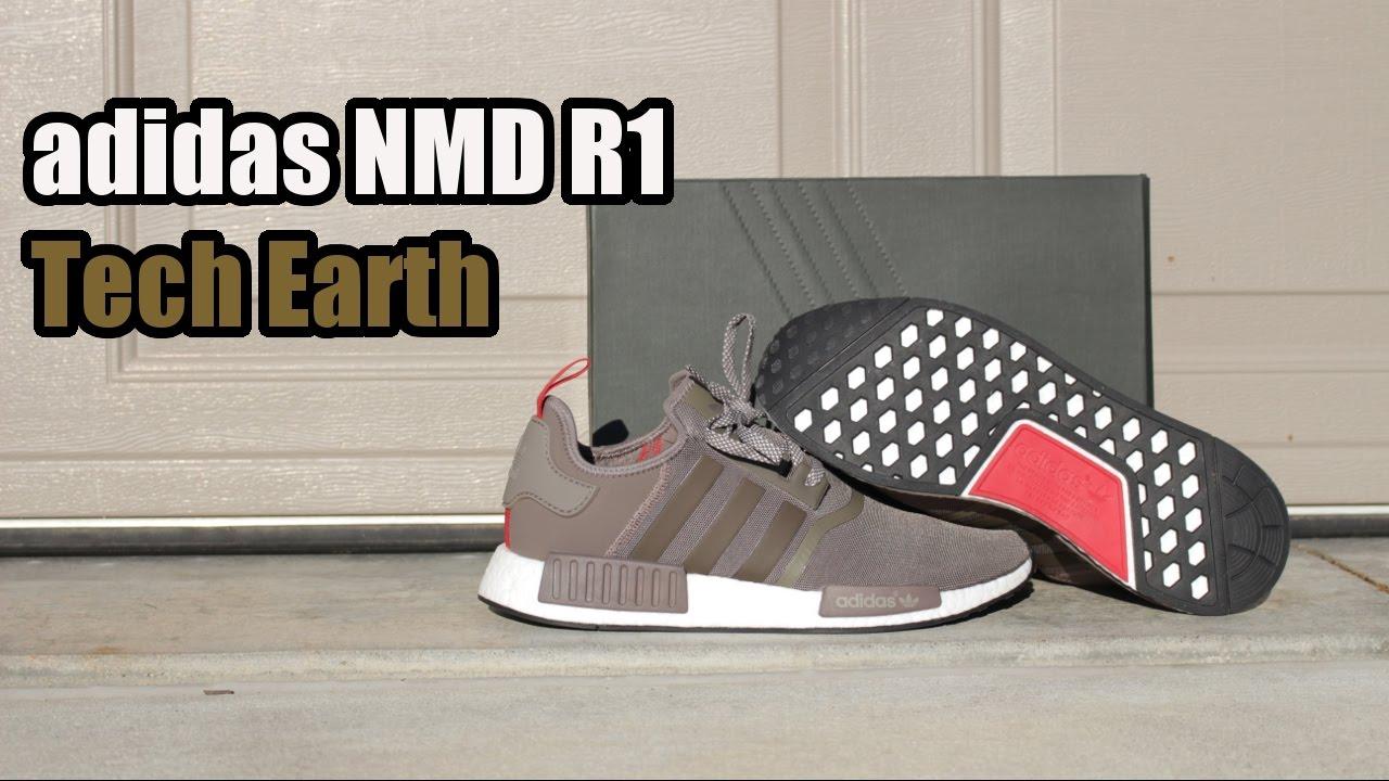 99609aea747ba adidas NMD R1  Tech Earth  W  On Foot - YouTube